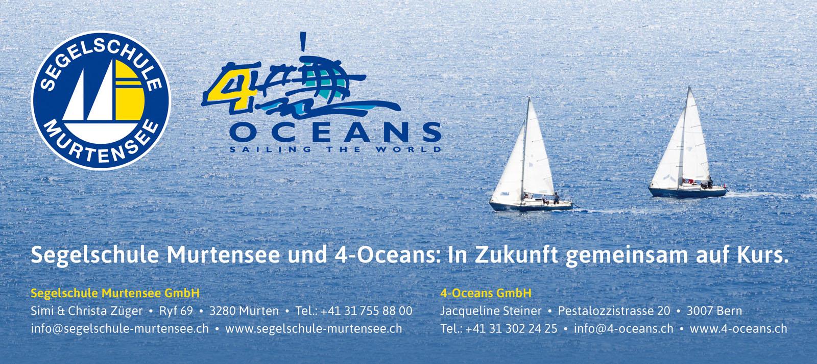 Segelschule Murtensee – SMS & 4-Oceans gemeinsam auf Kurs